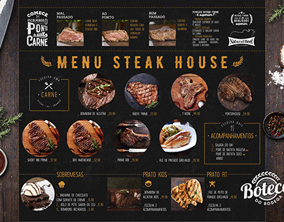 Boteco do Bodega - Steak House Menu