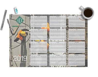 3' x 2' Company Desk Calendar