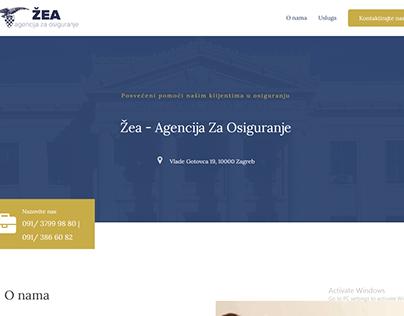 Izrada web stranice za agenciju za osiguranje Žea
