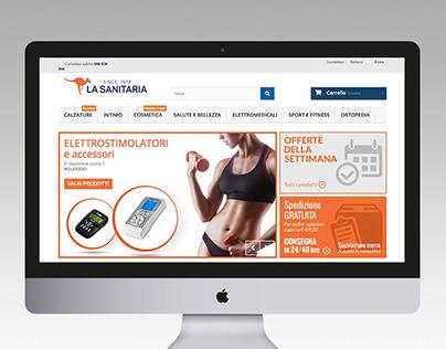 La Sanitaria | Grafica sito web e-commerce