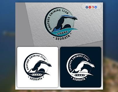swimming club logo design