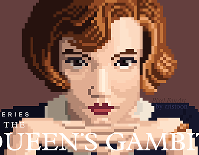 Pixel Fan-art - Queen's Gambit