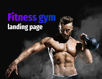 Fitness gym landing page/Фитнесс клуб лендинг