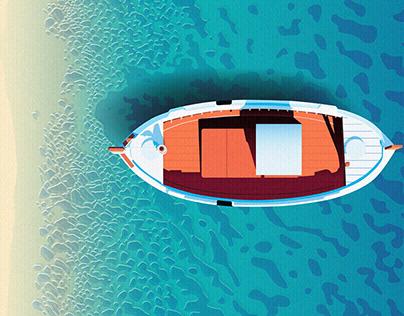 Realistic Flat Design Illustrations - Landscapes