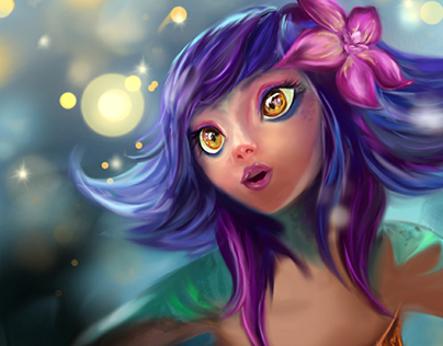 Digital Fingerpainting | Neeko League of Legends