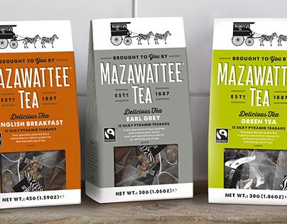 Mazawattee Tea branding and packaging