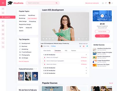 Akadimia - Online Courses Website Template