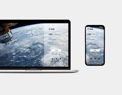 Login Page - European Space Agency