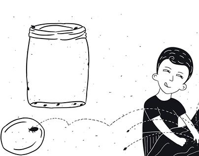 Ilustrações para o livro Memórias Inventadas de Pedro