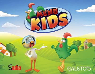 Menu Kids Galeto's com parceria Sadia