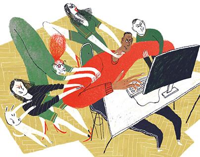 series of illustration for Business Lifehack magazine