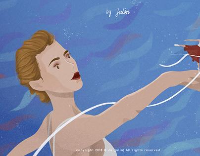 起舞——Ju(julin插画师) 舞蹈插画