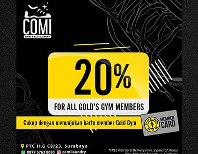 Comi Laundry X Gold's Gym   Simon Designs