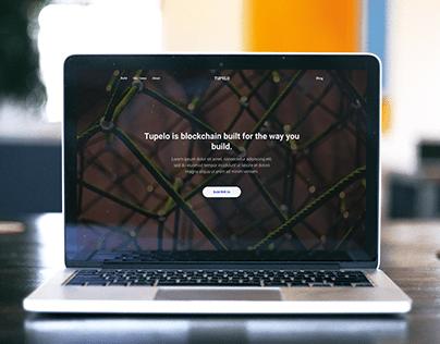 Blockchain Page. Design Concept.