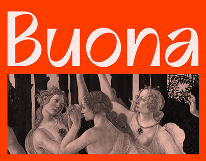 Buona Display: Stylish, Quirky, Expressive Typeface