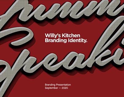 Willy's Kitchen — Rebranding & Environmental