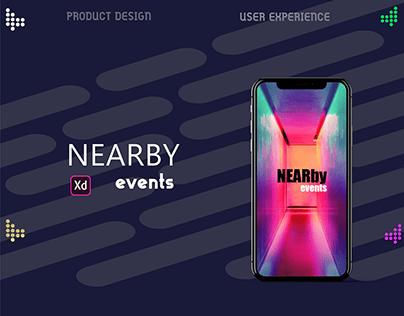 Near By Events Application . ADOBE XD   IOS   UI/UX