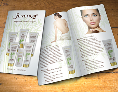 Jenetiqa Luxury Skin Care Product Brochure