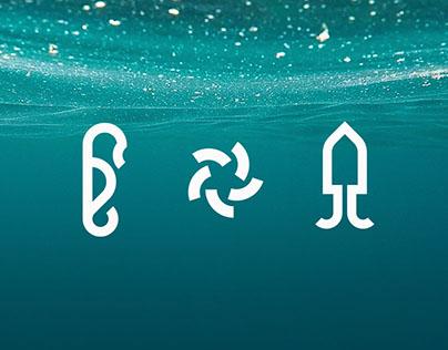Aqua Creatures Icons