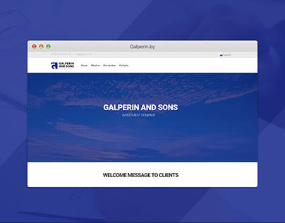 Galperin & Sons — Investment Company Website + Identity
