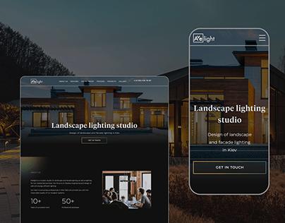 Landscape lighting studio - Landing page design