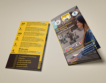 Leaflets and flyers for different companies.