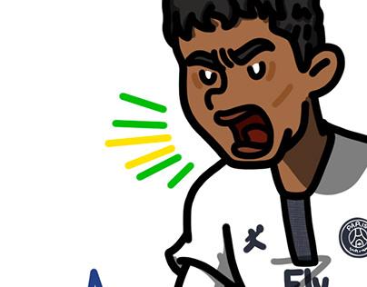 Thiago Silva Psg Projects Photos Videos Logos Illustrations And Branding On Behance