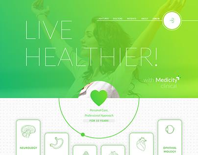 Medicity clinic/hospital  website