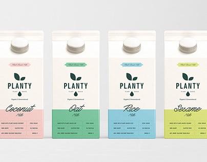 Planty Plant Based Milk Branding