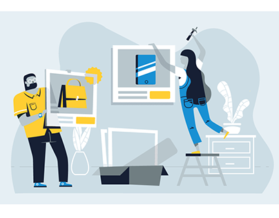 Go commerce platform illustrations
