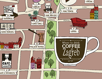 Zagreb Coffe Map