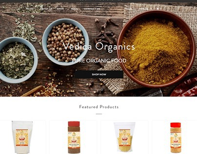 Website for an Online Organic Food Store