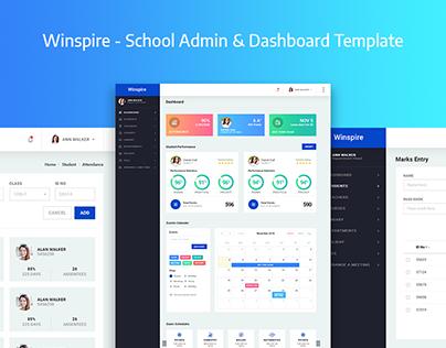 Winspire - School Admin & Dashboard Template