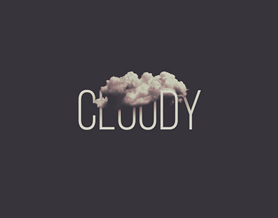Cloudy Weather Text Effect