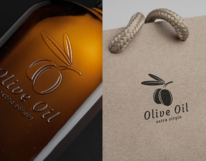 Olive Oil. Logo Template