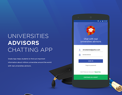 Grade App - Chat with real universities advisors