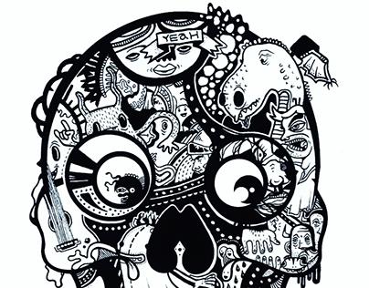 Skull for Six Hugs & Rock 'n Roll  (kidsbrand)