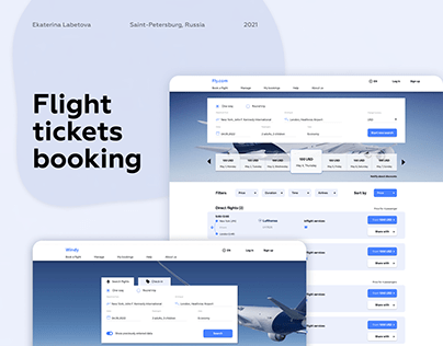 Flight tickets booking ui/ux