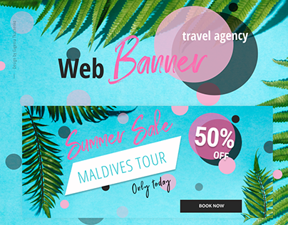 Web Banner Design For Travel Agency
