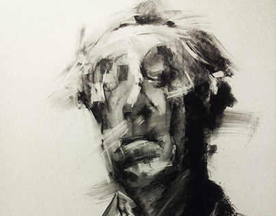 drawings with charcoal and chalk on paper