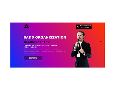LANDING PAGE -EVENT - ORGANISZATION - GATHERING -