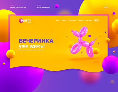 Party time | Branding & webdesign | Concept E-commerce