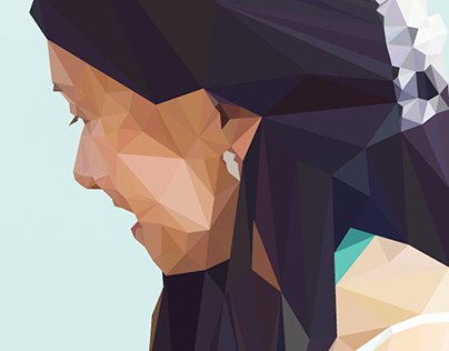 2D Low-poly Illustrations and Portraits