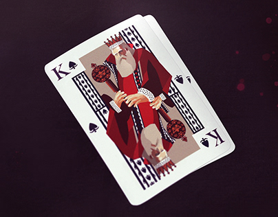 Two traditional playing cards