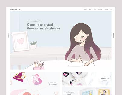 Ivycdraws Illustrated Goods Website