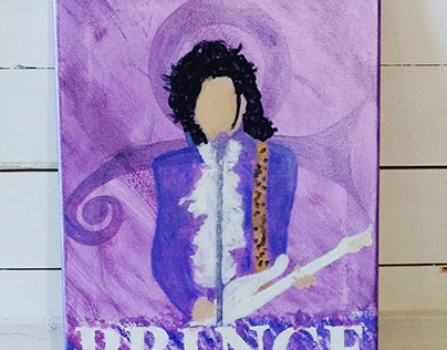 Hand Painted Prince on Canvas