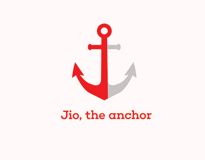 Jio Logo (Resemblance with anchor)