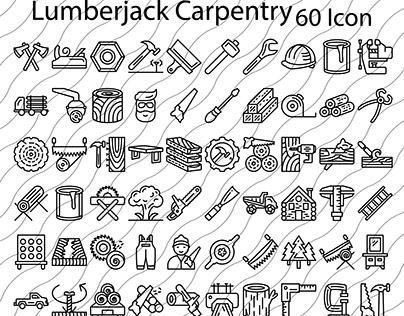Lumberjack and Carpentry Icon Set
