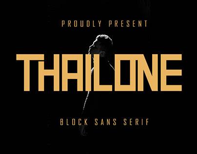 Thailone - Block Sans Serif