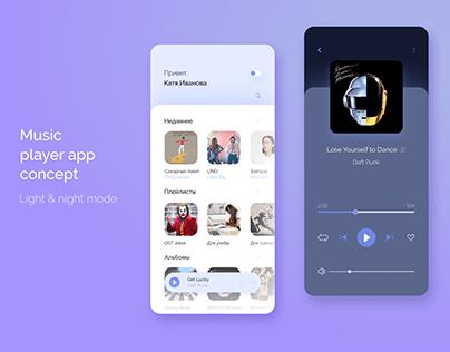 Music player app concept